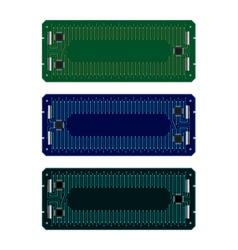Circuit board frames vector image