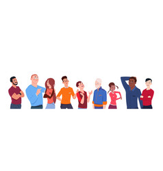 Group of people mix race cartoon of different age vector
