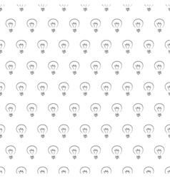 Seamless pattern texture background with bulbs vector image vector image