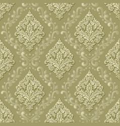 volumetric damask seamless pattern vector image