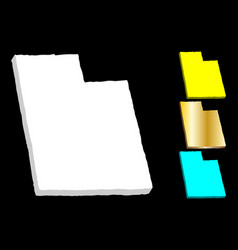 3d map of utah vector image