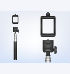 3d realistic monopod selfiestick for vector image