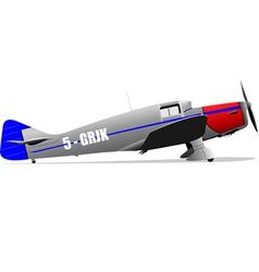 6001 plane 03 vector image