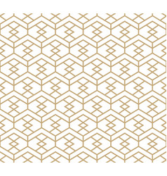 abstract gold and white honeycomb pattern vector image
