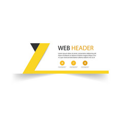 abstract web header design template yellow backgro vector image