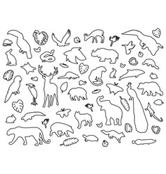 animal shaped outline isolated vector image