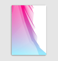 art linear minimalistic trendy brochure design vector image