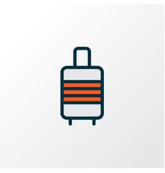Baggage suitcase icon colored line symbol premium vector