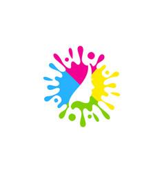 beautiful paint logo icon design vector image