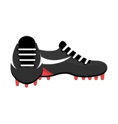 black and white soccer shoes graphic vector image