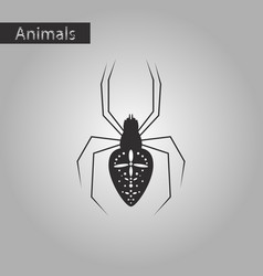Black and white style icon of araneus vector