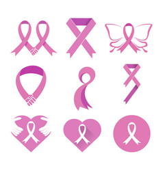 breast cancer social awareness icon symbol design vector image