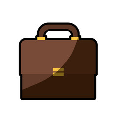 Briefcase business paper shadow vector