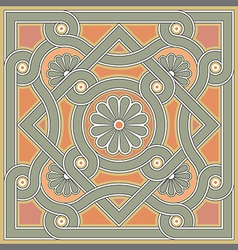 Byzantine decorative rosette vector