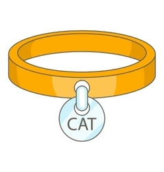 Cat collar icon cartoon style vector