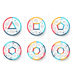 circle infographic with 3 4 5 6 7 and 8 vector image