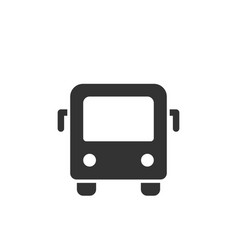 city bus front view glyph style icon vector image