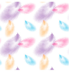 colored seamless feather pattern seamless vector image