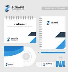 Company design calender and stationary items with vector