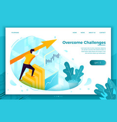 concept - overcome challenges vector image