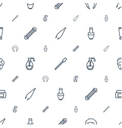 Cosmetic icons pattern seamless white background vector