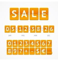 Counter Seasonal Sale Concept vector image vector image