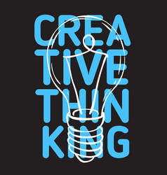 creative thinking poster design with artistic vector image