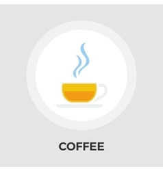 Cup of coffee flat icon vector image