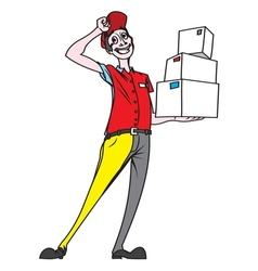 delivery man3 resize vector image