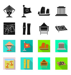 Design vietnam and traditional sign set vector