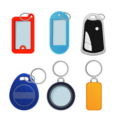 different keychains pictures in vector image