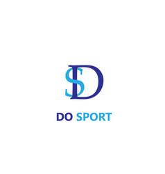 Do sport letters logo vector