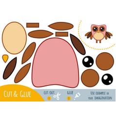 education paper game for children owl vector image