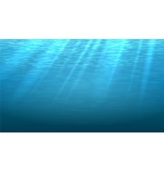 Empty underwater blue shine abstract vector