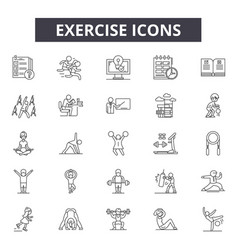 exercise line icons for web and mobile design vector image