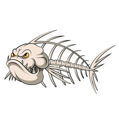 Fish bone mascot vector