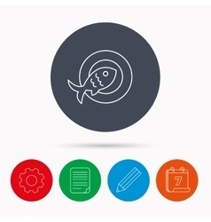Fish icon Seafood sign Vegetarian food symbol vector