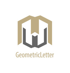 geometric initial letter mw wm logo concept vector image