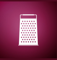 grater icon on purple background kitchen symbol vector image