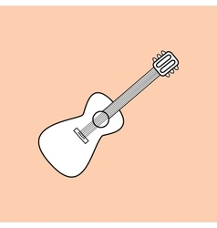 Guitar is a stringed musical instrument vector