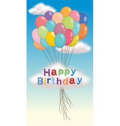 Happy birthday poster vector