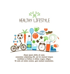 healthy lifestyles vector image