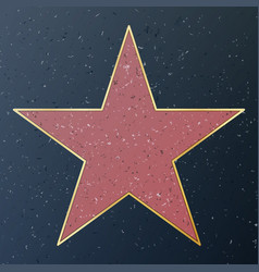Hollywood walk of fame star vector
