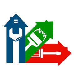 Housing service design vector