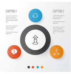 hr icons set collection of team structure vector image