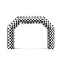 Inflatable finish line arch archway vector