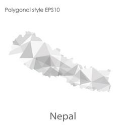 Isolated icon nepal map polygonal geometric vector