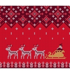Knitted Sweater Pattern vector image
