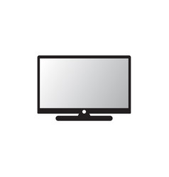 modern tv icon pc icon monitor icon isolated vector image