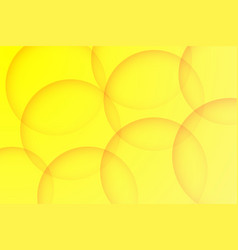 Modern yellow backgrounds abstract 3d circle vector